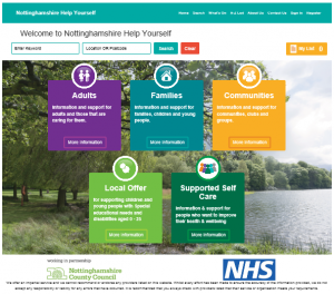 notts help yourself website